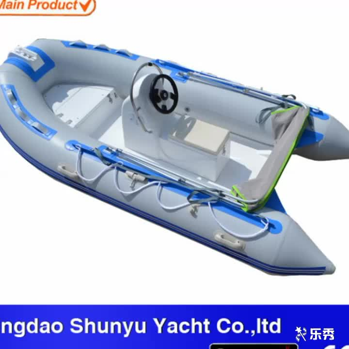 0ver 20 Years Factory 3.3m Small Fiberglass Rigid Hull Inflatable Boats With Outboard Motor