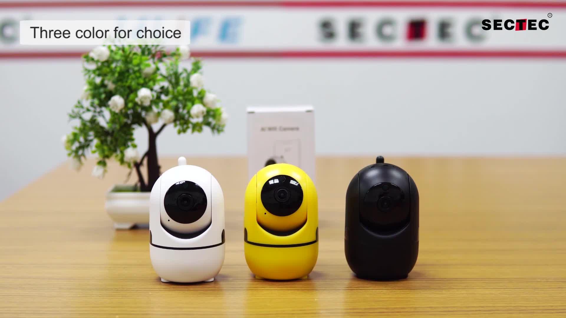 Akıllı ev gözetim wifi kablosuz kapalı otomatik izleme ptz ip kamera