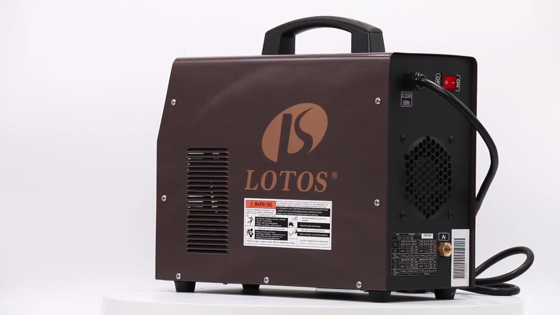 Lotos inverter ac dc saldatura tig inverter 200a 110v 220v in alluminio saldatore tig mma impulso macchina di saldatura tig ac dc