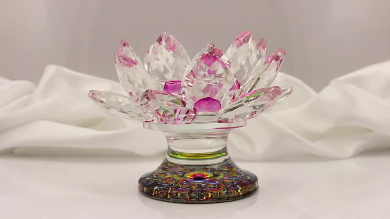 Crystal Lotus Candleholder For Wedding Centerpieces