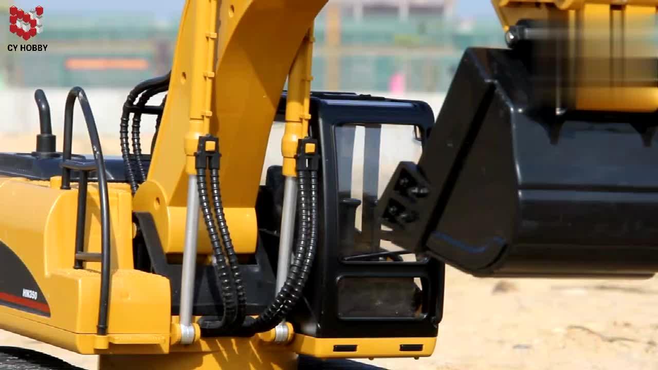 HUINA580 1:14 15CH RC metal remote control excavator Die-cast Truck huina 1550 of plastic version