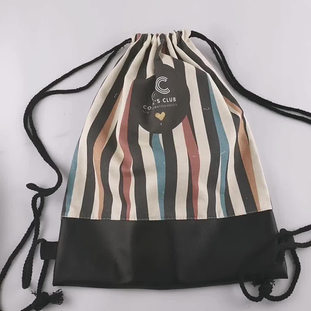 ผ้าฝ้ายพิมพ์ดิจิตอล canvas กระเป๋าเป้สะพายหลังกระเป๋า