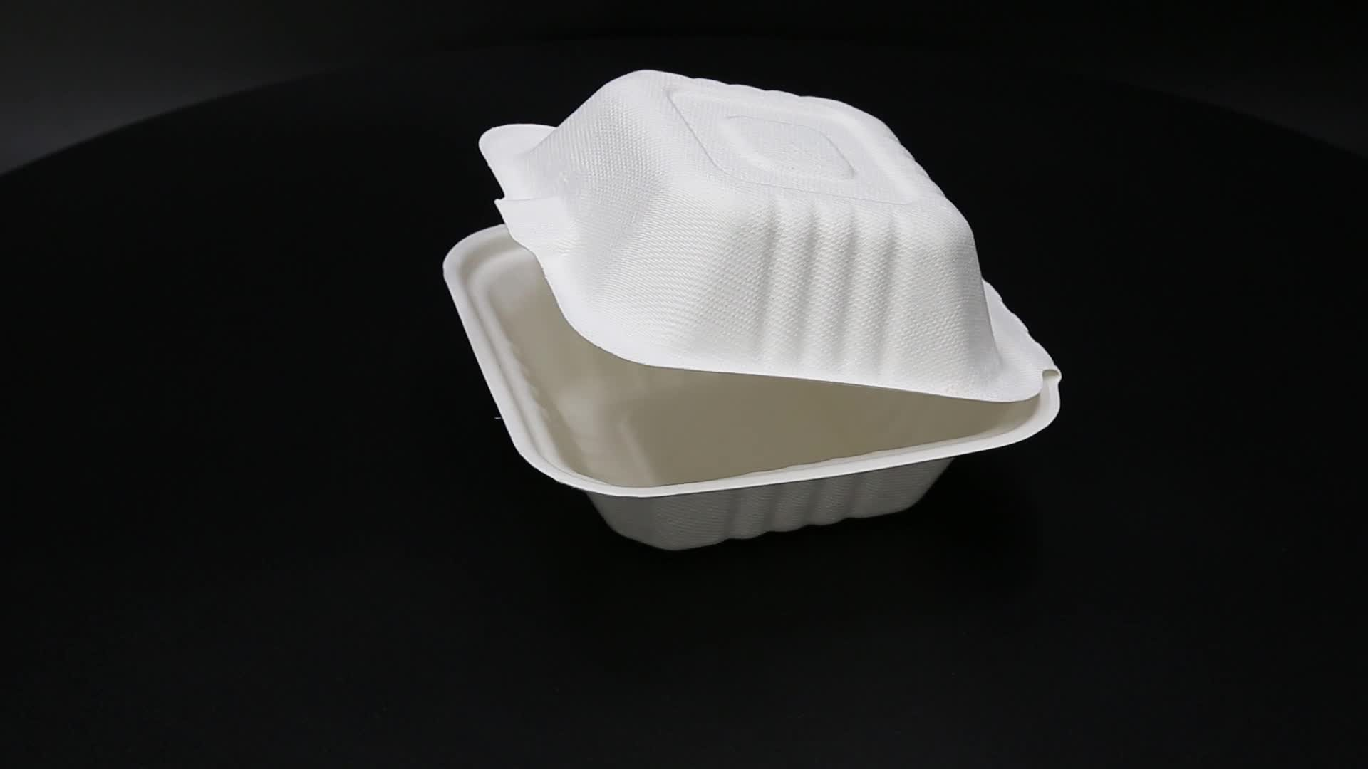 Ecofriendly paper pulp sugarcane bagasse tableware container plates bowls clamshells
