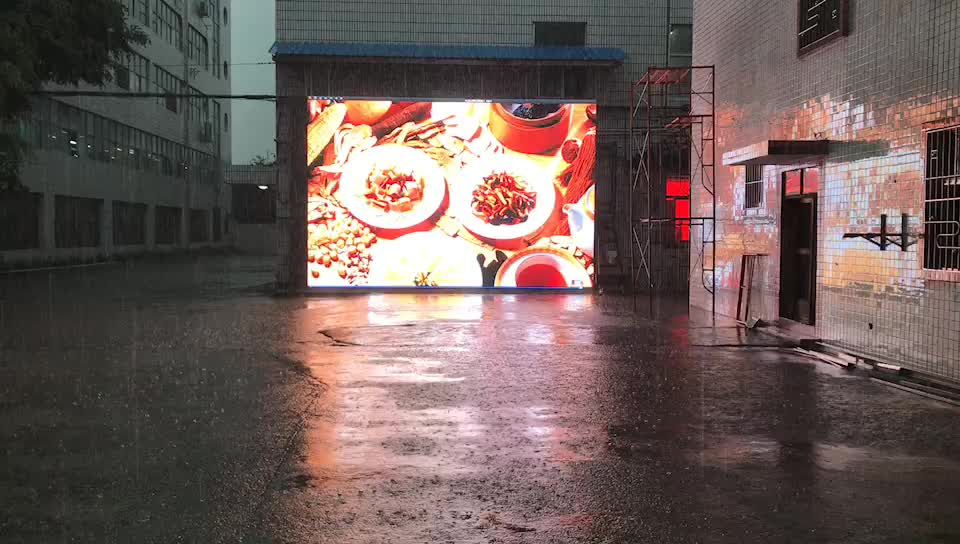 p10 fixed installation outdoor advertising LED display screen video wall