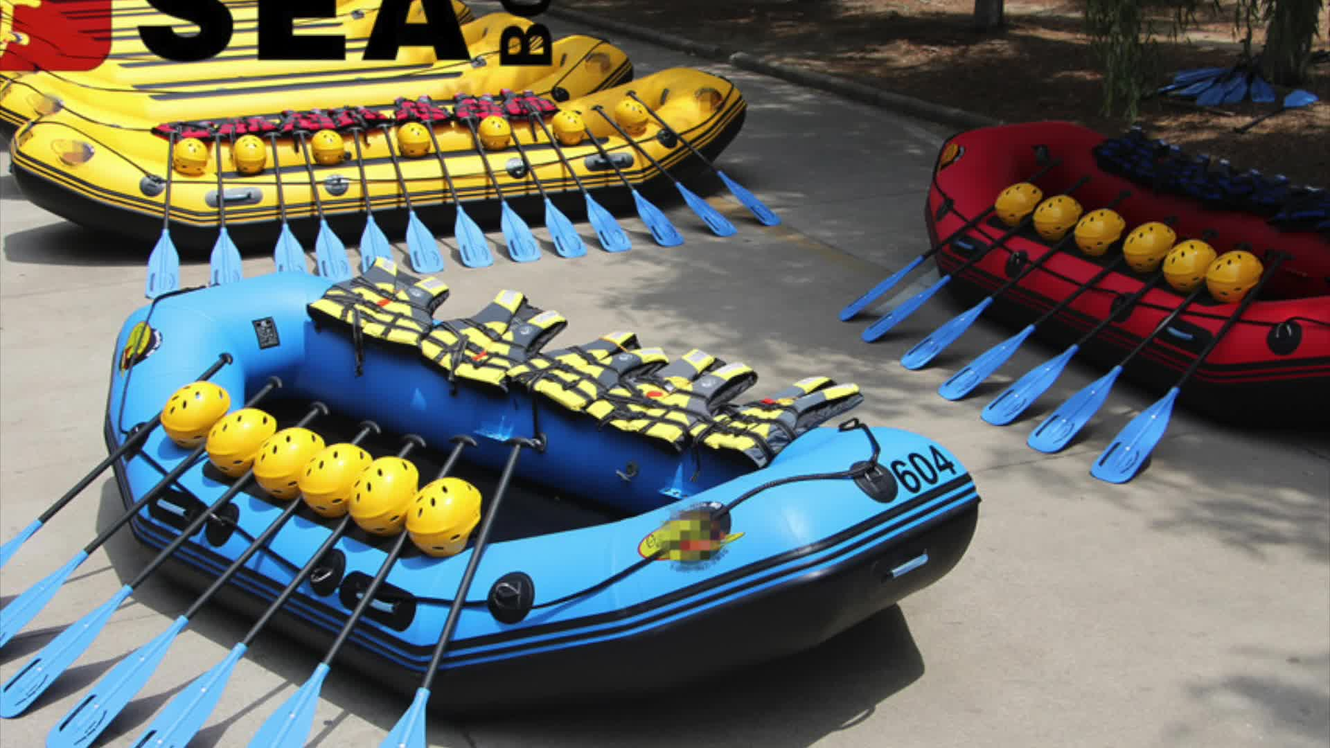 360 cm durable bottom 6 person inflatable whitewater raft rafting boat!