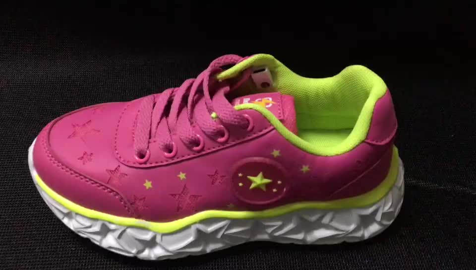2019 New Kids Led Shoes Zapatillas Light Up Battery Operated Girl Shoes WholeSale Best Price