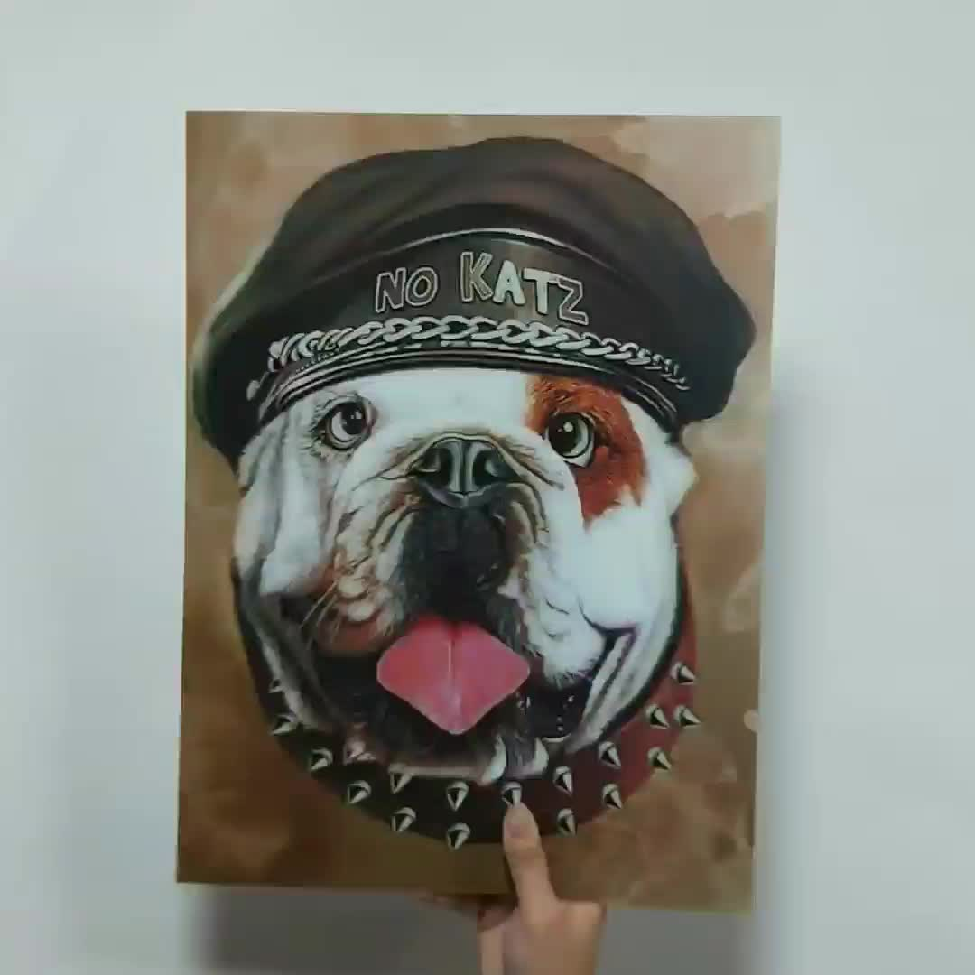 Factory price of 3D/5D lenticular picture Animal dog Lenticular 3d Poster picture