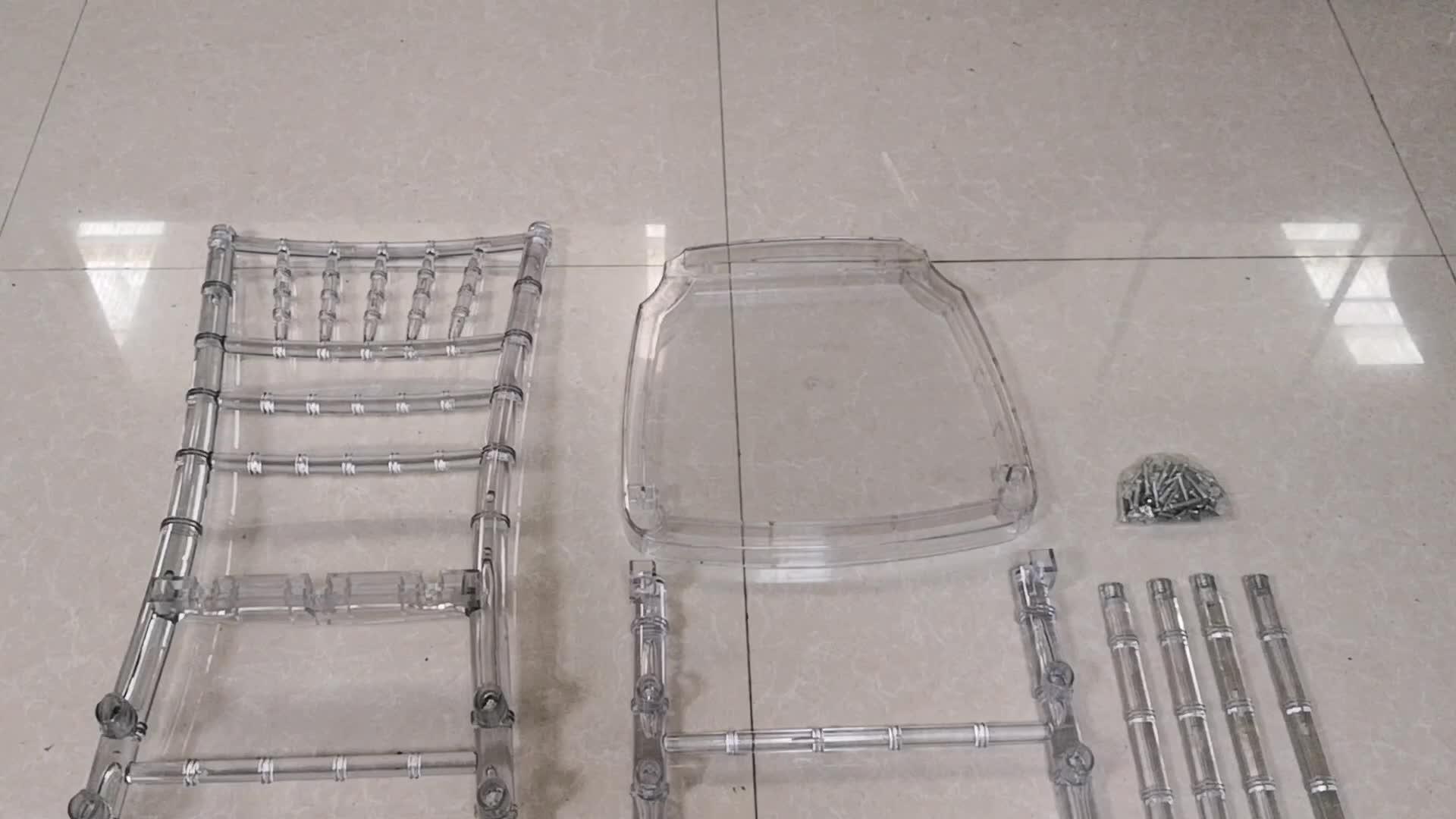 Wholesale Acrylic Clear Resin Wedding Event Tiffany Chiavari Chair