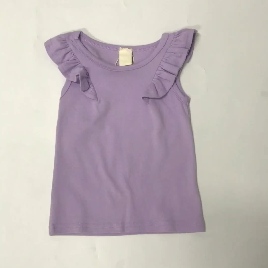 girl toddler clothes short sleeve purple girls shirts summer tops for girl