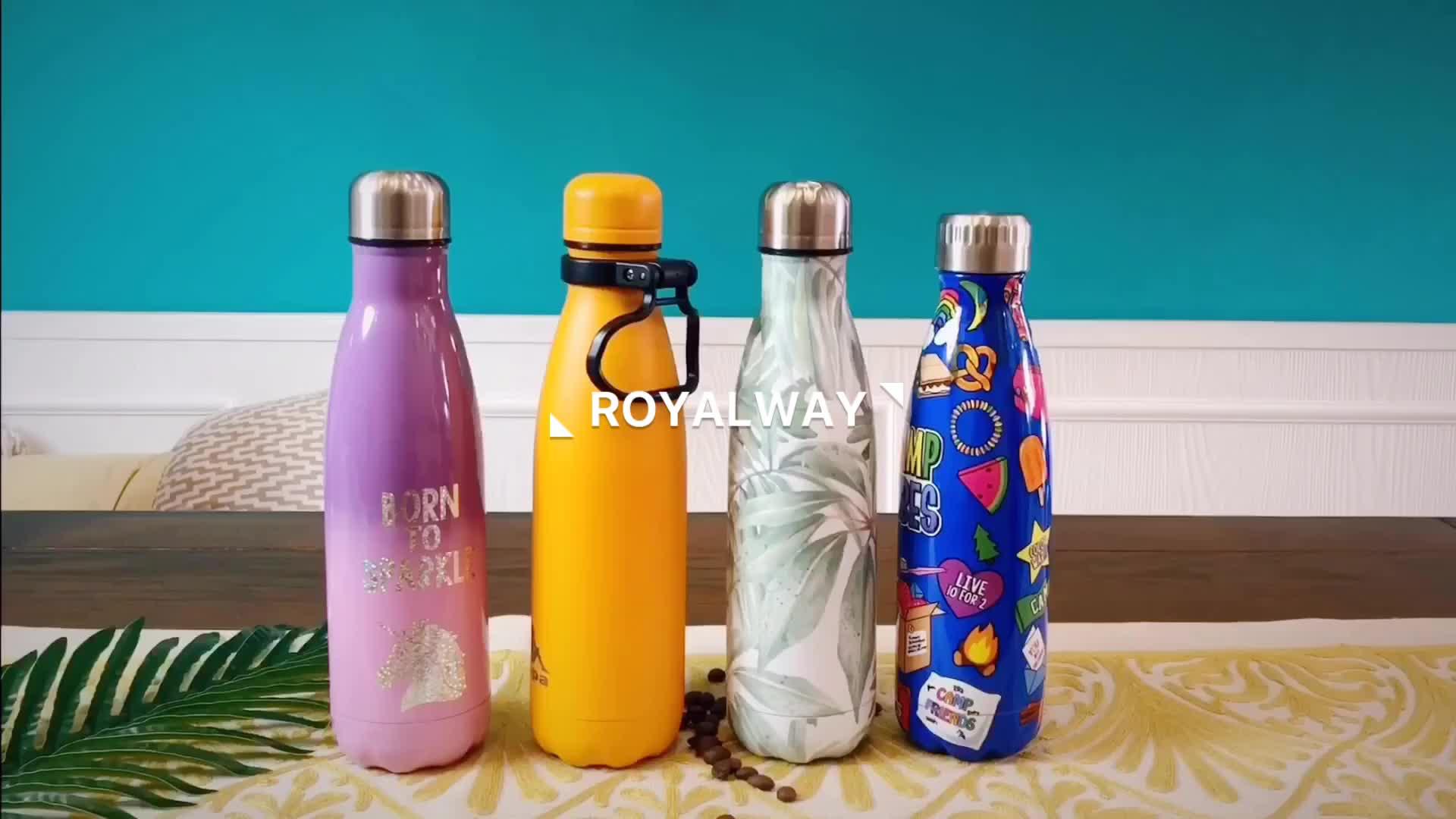 Royalway heißer Verkauf Sport isolierte doppelwandige Edelstahl-Wasserflasche