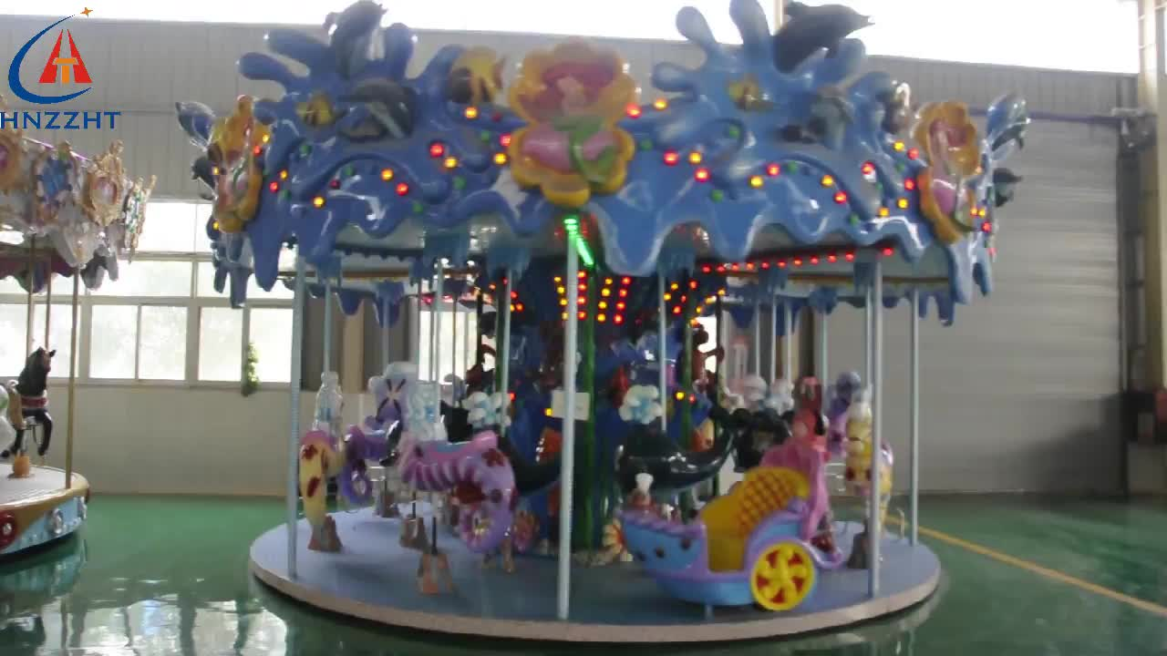 Theme park indoor / outdoor kids Amusement rides meery go round carousel for sale