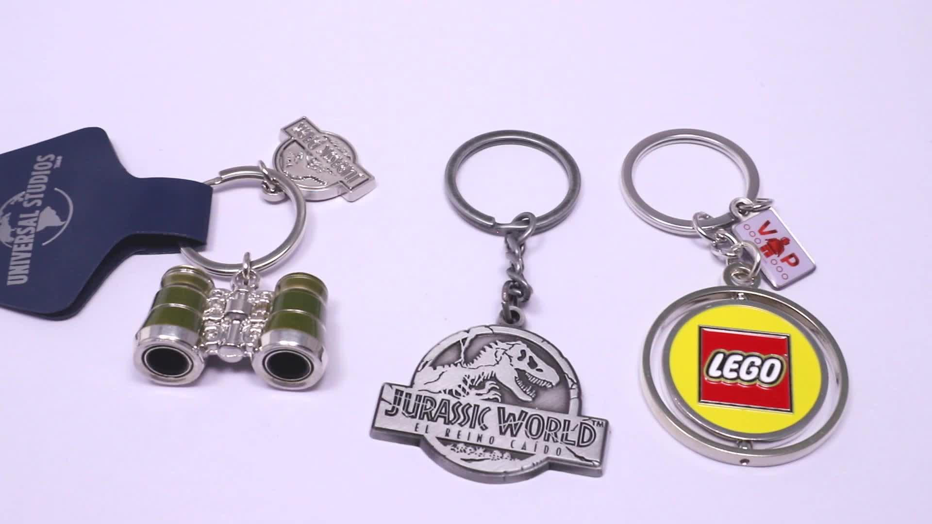 Marcas dos desenhos animados Elenco Chaveiro Metal Corrente Chave
