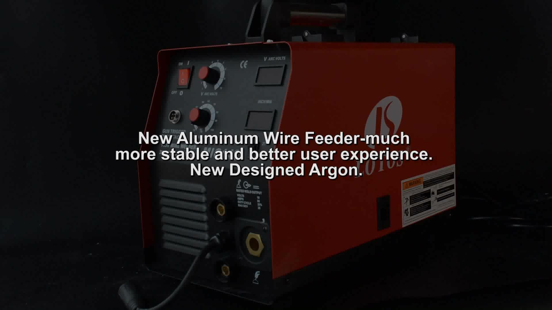 LOTOS MIG140 MOSFET High Frequency DC inverter 140A welding mig machine portable co2 aluminum mig welder