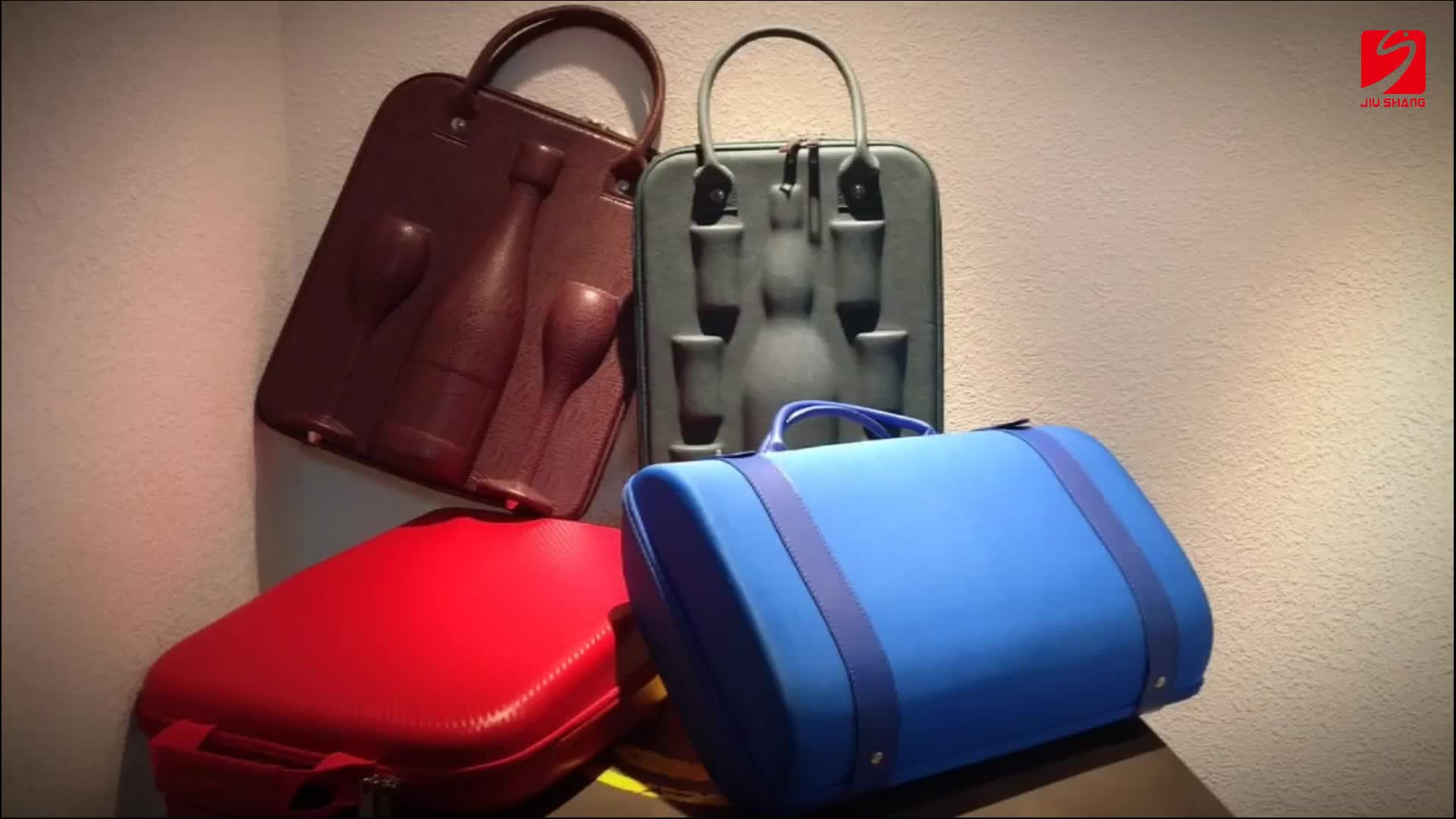 6-bottle ultrathin pu leather wine carrier bag,champagne bottle case