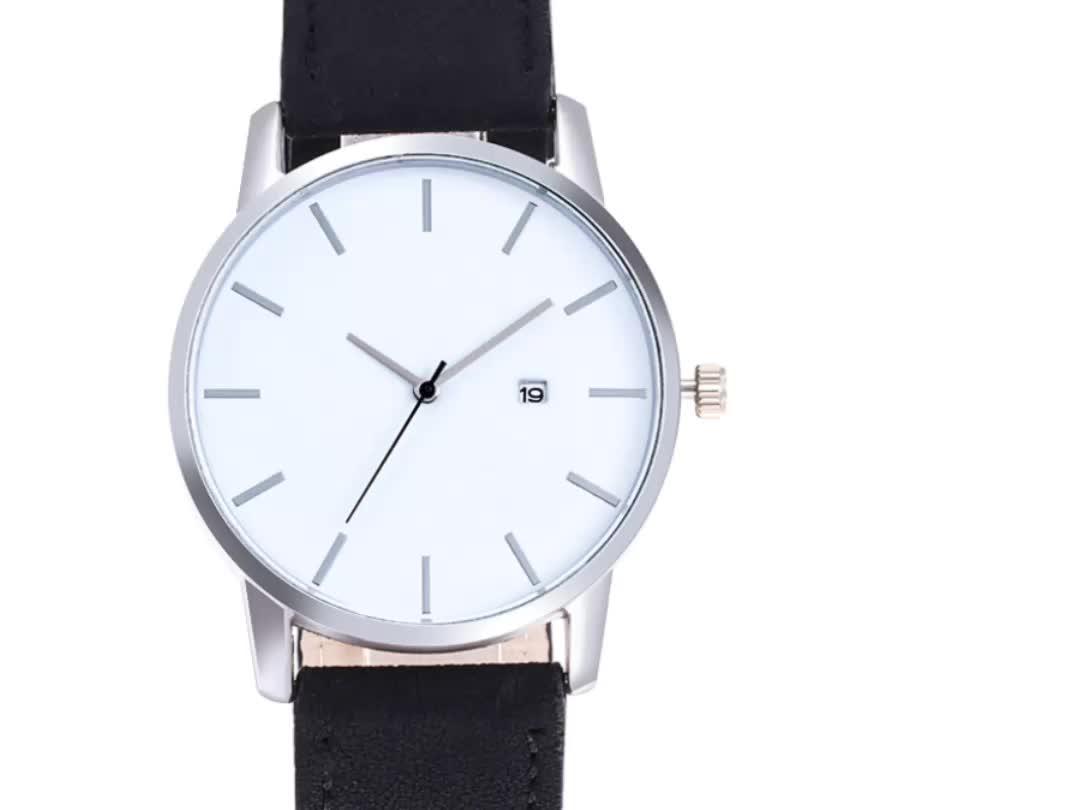 WJ-7764 หนัง Band Big Dial ปฏิทินชายนาฬิการาคาถูกน่าสนใจ Vogue ขายส่งธุรกิจผู้ชายนาฬิกา