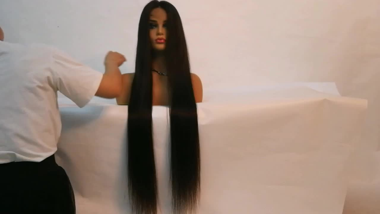 Pre Plucked 100% Cuticle Aligned Raw Brazilian Human Hair Lace Front Wig, Cheapest 10A Straight Original Virgin Full Lace Wigs