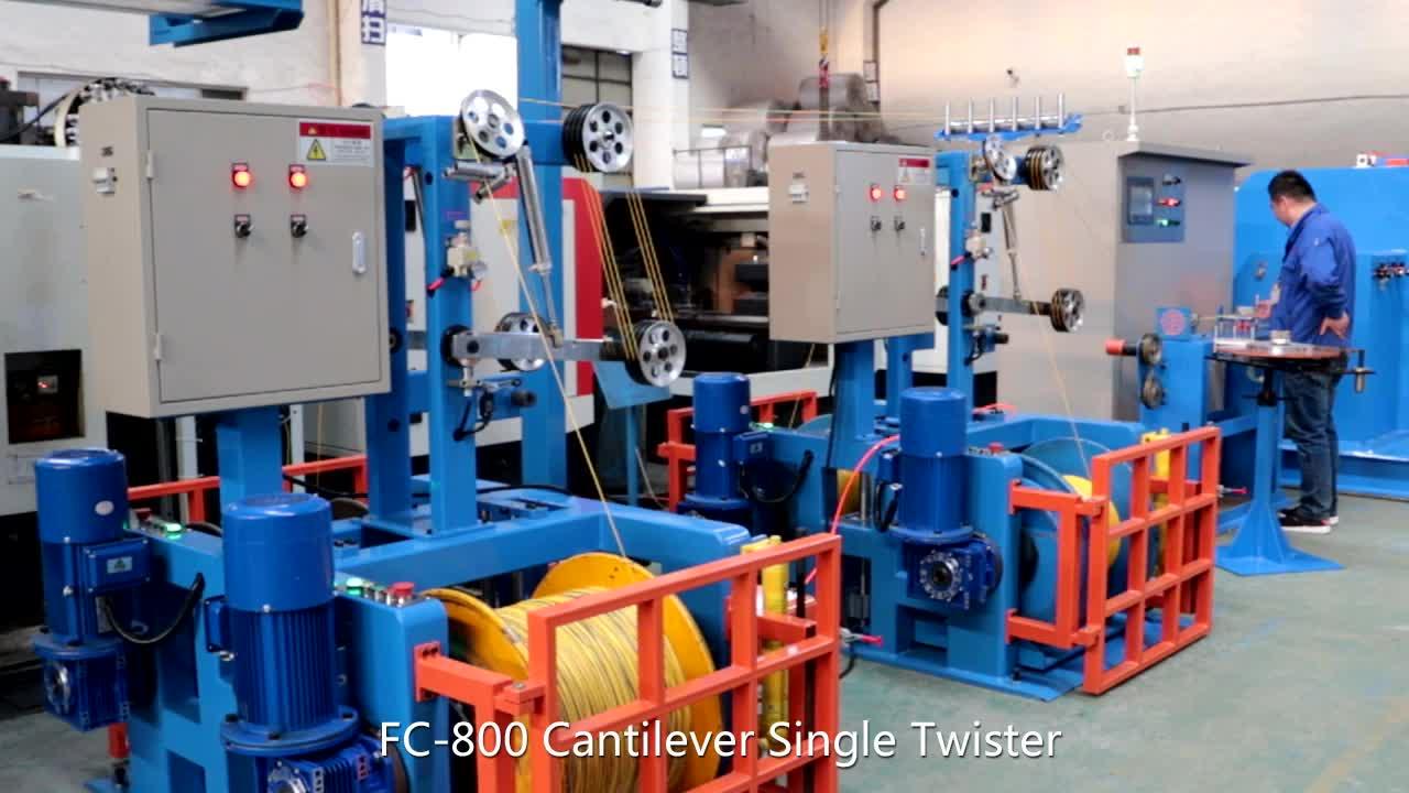Yüksek Hızlı Ekstruder Bakır tel kaplama makinesi Kaplama ekstrüzyon pvc bakır tel ve kablo yapma makinesi