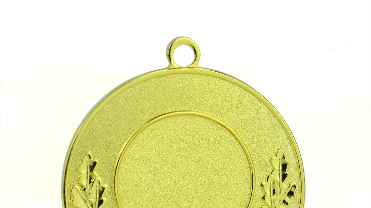 Manufacturer Wholesale Cheap Custom Made Your Own Classic Style Metal Gold Award Medallion Marathon Running Sport Blank Medals