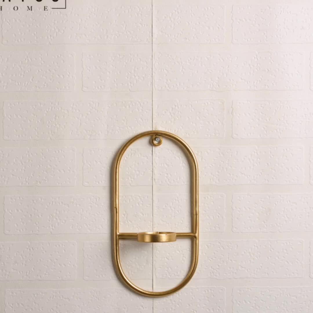 Mayco עתיק 3 Pieces דקורטיבי רשת תיל מתכת זהב מחזיקי תה אור נר