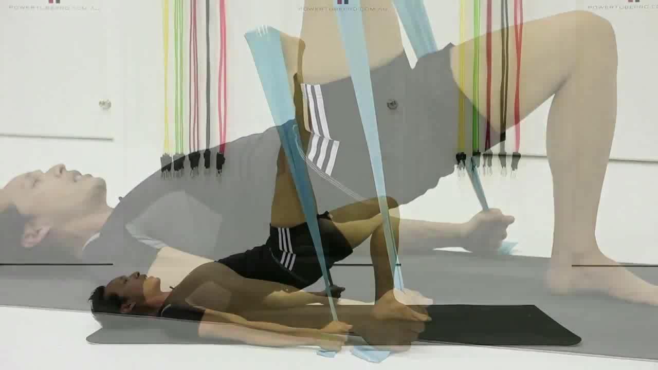 Pilates beliebtes elastisches Yoga-Fitnessband für Widerstandsübungen