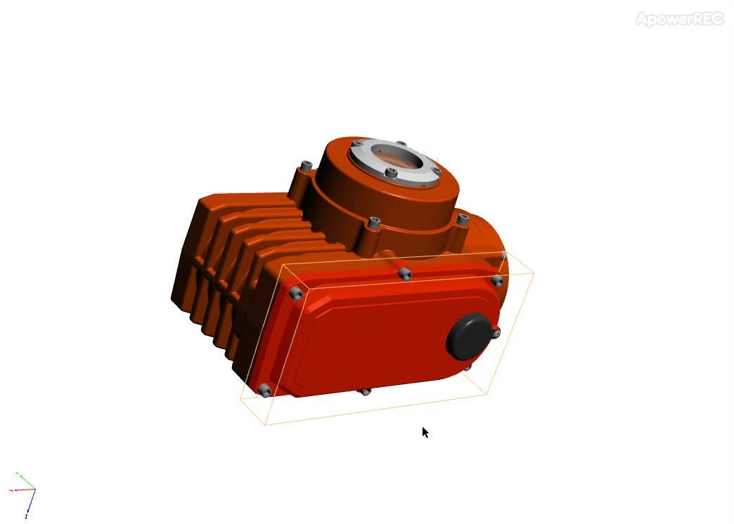 IP68 Top diving series industrial electric rotary actuator with explosion proof function