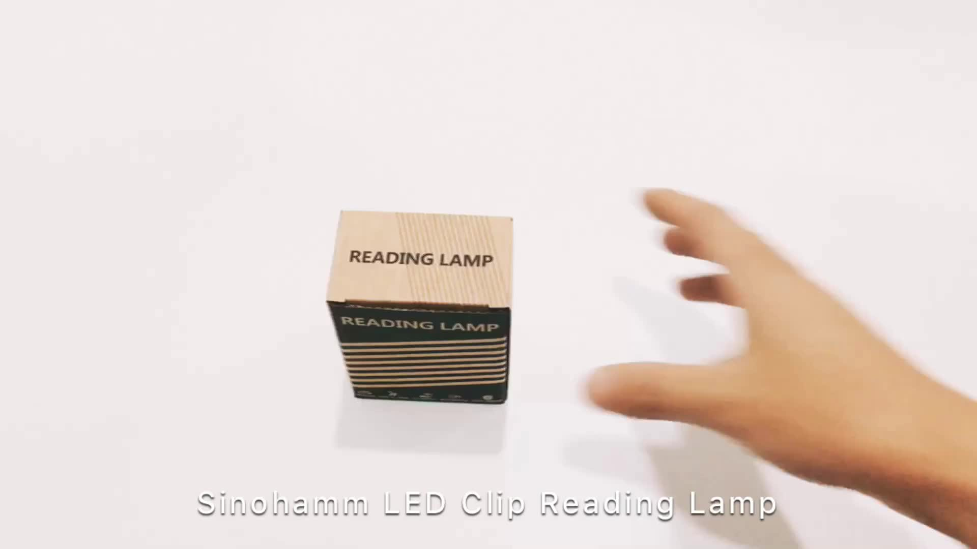 2019 LED Amber Clip Light Without Blue Light, No Harm to Eyes and Easy for Sleep
