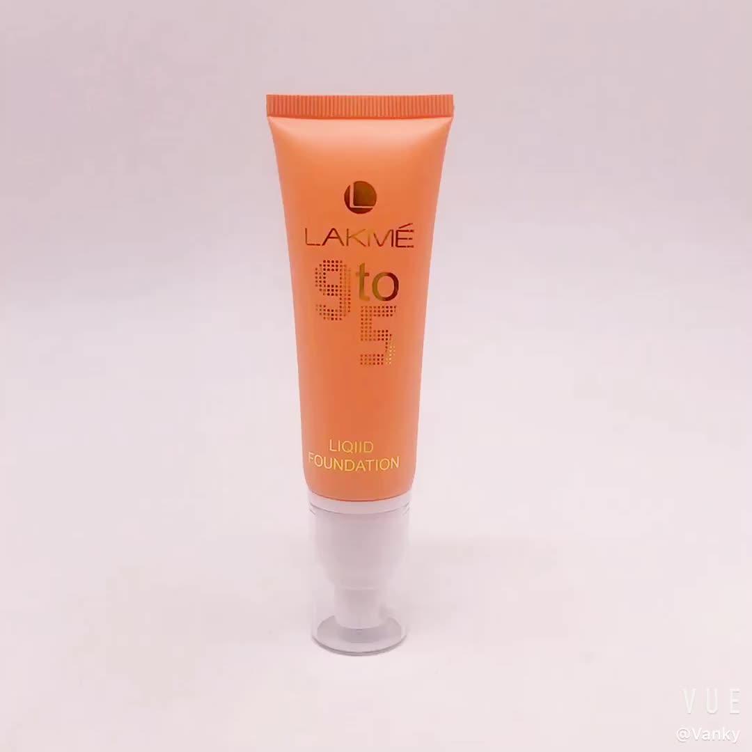 Flip top cap empty plastic cosmetic tube
