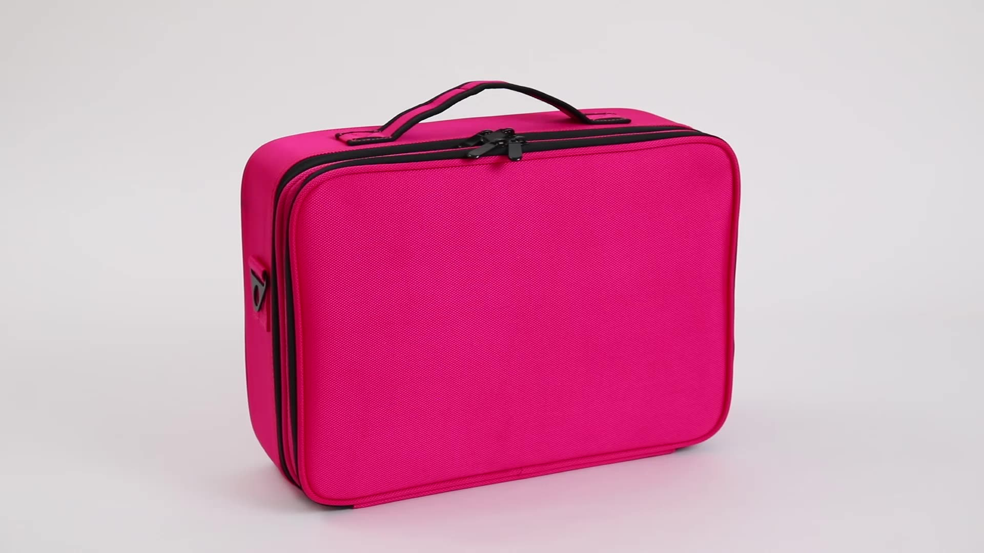 Pink Professional Cosmetic Case Organizer Artist Beauty Makeup Bag Portable Canvas Cosmetic Bag