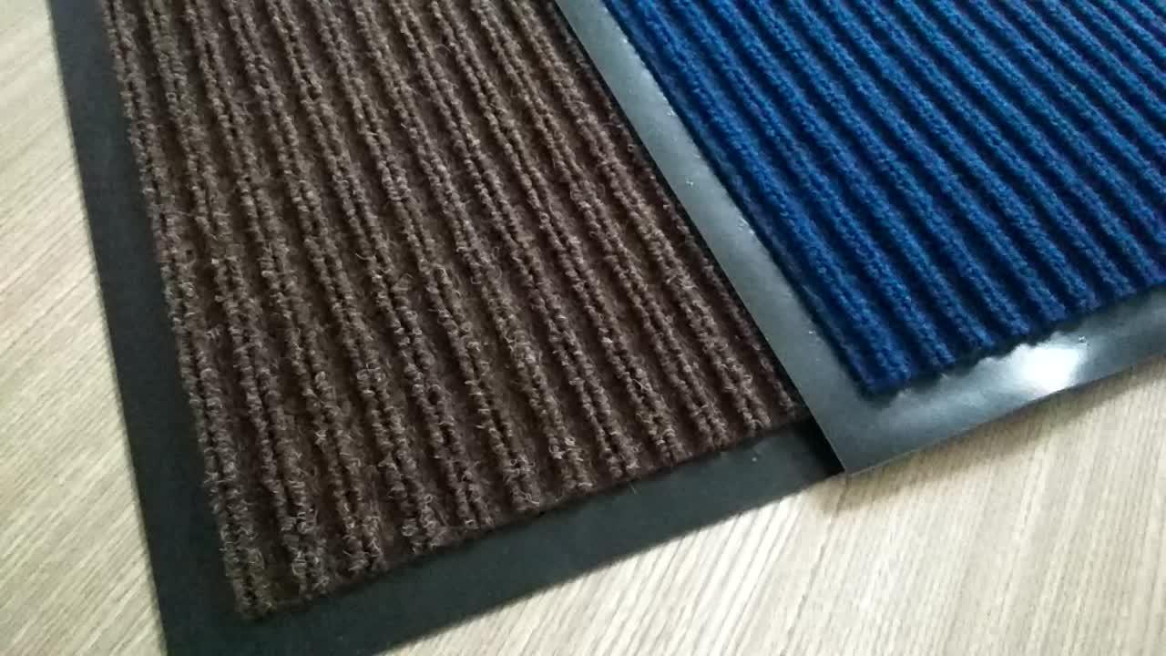 Amazon populaire dubbele geribbelde rubberfloor mat voor thuis
