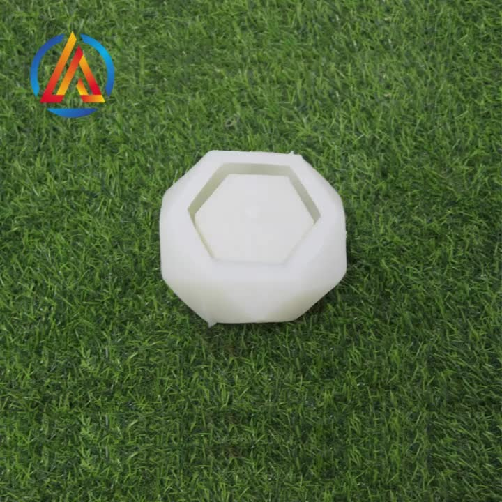 New Design Round Various Shapes Cactus Cement Diy Flower Pot Silicone Mold