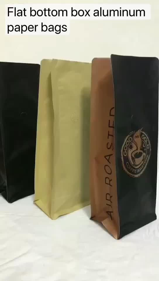 biodegradable custom printing drip kraft paper coffee bag custom printed packaging with valve