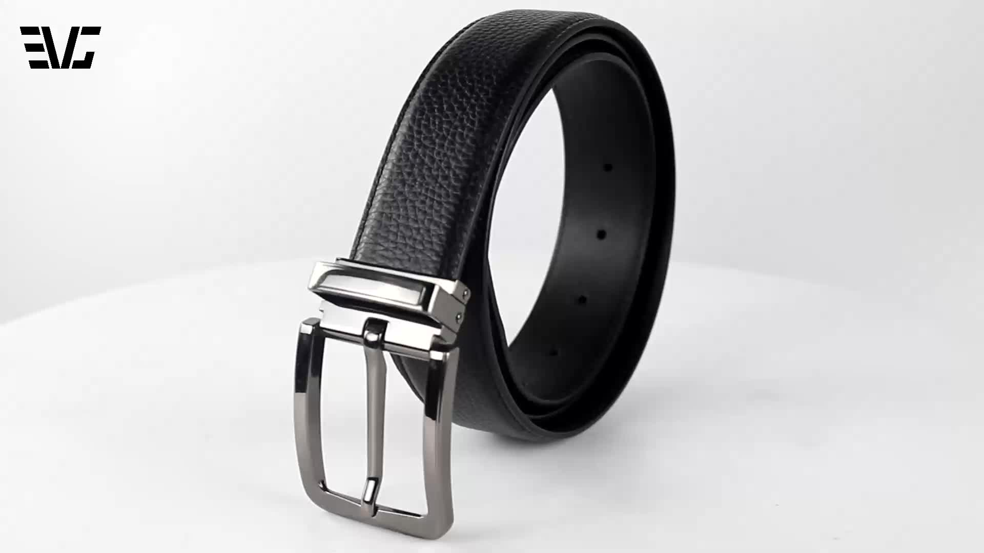 Cool and fashionable full grain leather belt with simple light pin buckle for men to be used in office, parties or other daily o