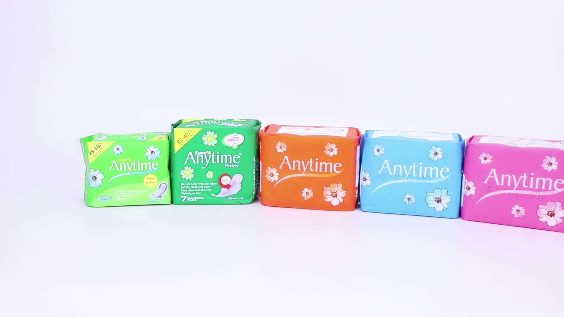 SN2454XT Best Quality Cotton Anion Chip Feminine Hygiene Sanitary Napkins Winged Lady Pad Sale in Pakistan Usa