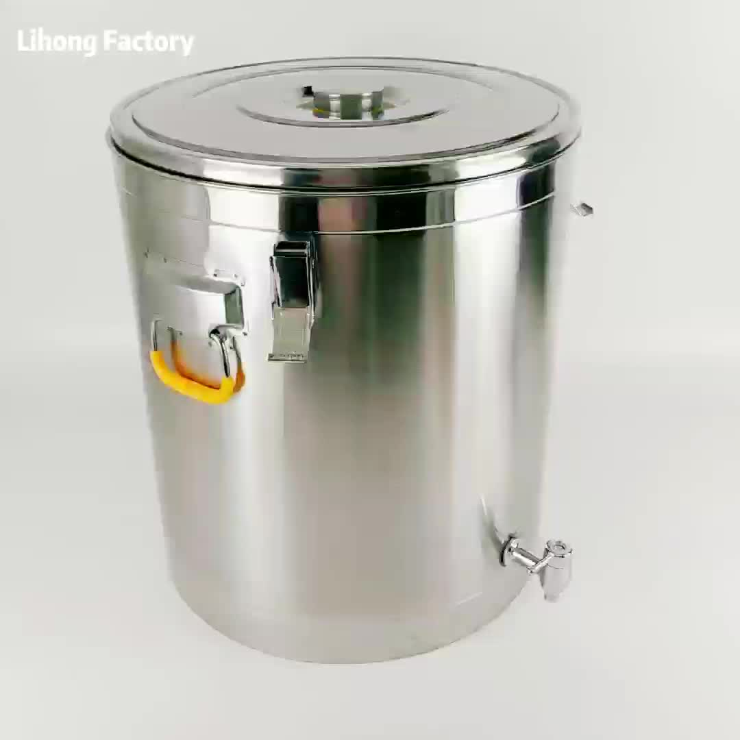 Stainless Steel Insulated Barrel Food Container Insulated Thermal Drinks Barrel