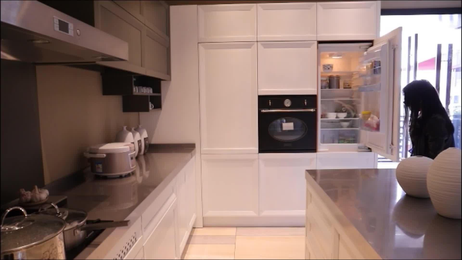 Nicocabinet Kustom Perabot Dapur Desain Dapur Modular Lembut Penutupan Kayu Solid Lemari Dapur