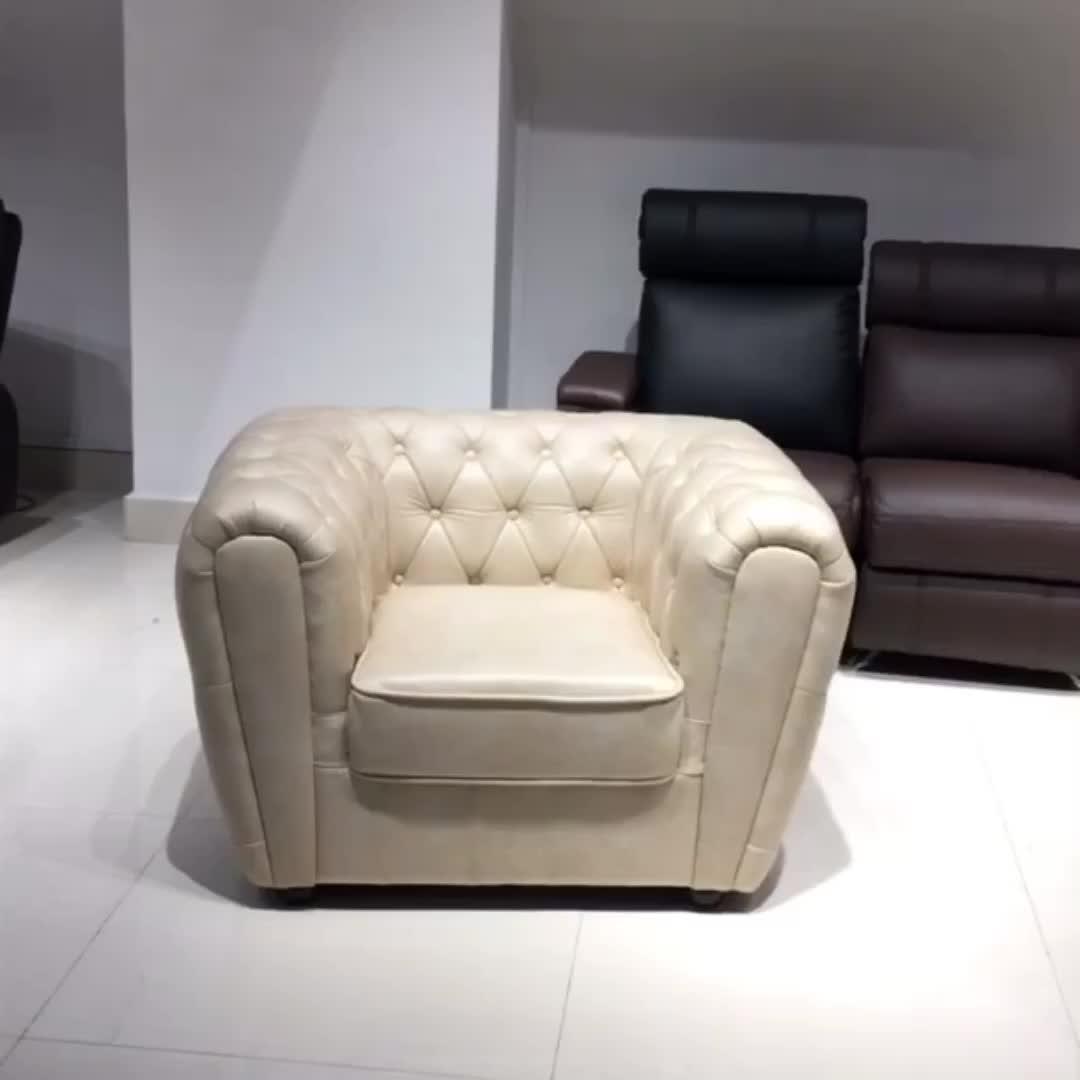 CH97b Luxus klassische moderne möbel amerikanischen komfortable weichen botton tufted 123 set air leder couch chesterfield-sofa