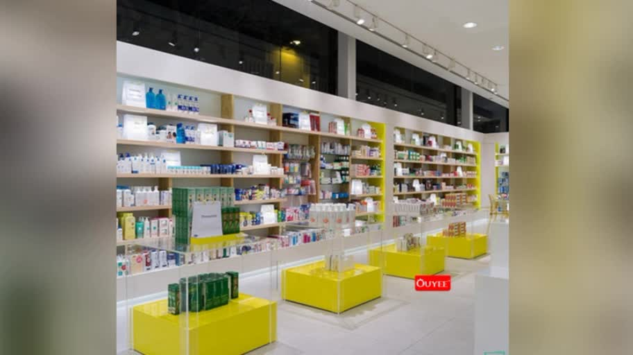 Wooden Modern Pharmacy Counter Design Medical Store Furniture for Sale