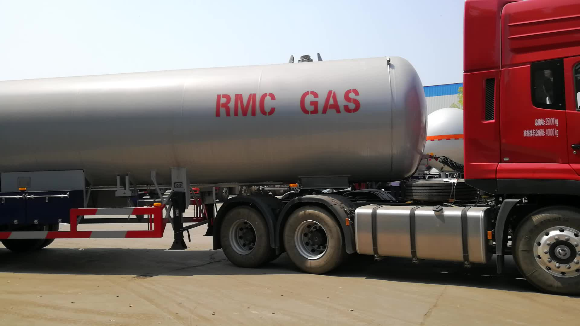 China hacer 40500L tanque de gas de GLP camión de nuevo diseño de gas lpg camión cisterna de buena calidad de gas lpg remolque