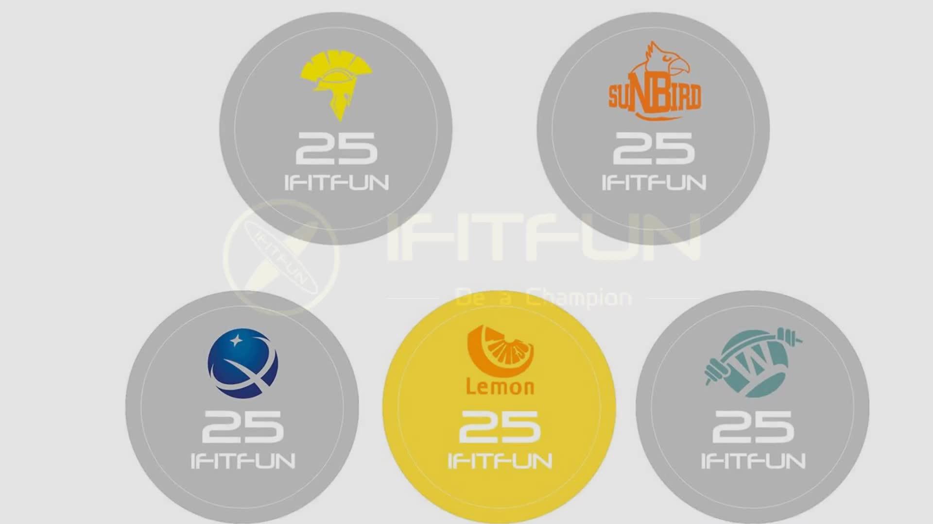 Ticari kullanım özel logo kauçuk dambıl