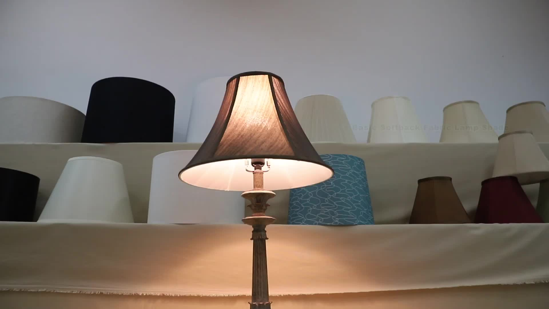 Dongguan Best Selling White Softback Decorative Replacement Fabric Lamp Shades