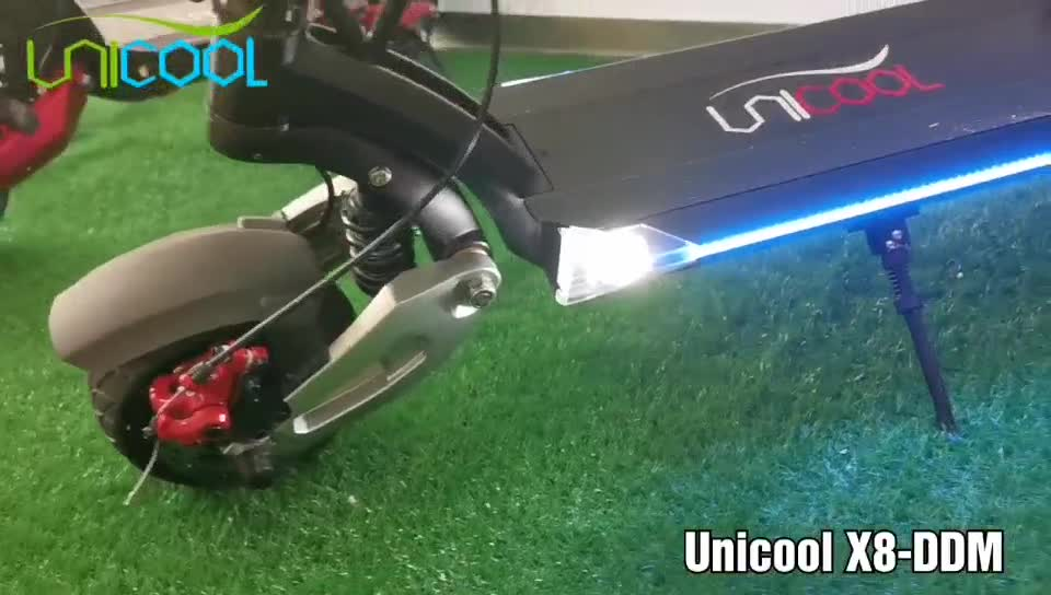 Unicool 8 inch 52V 26AH Dual Motor Electric Scooter X8-DDM With Solid Wide Tyre 1600W Motor