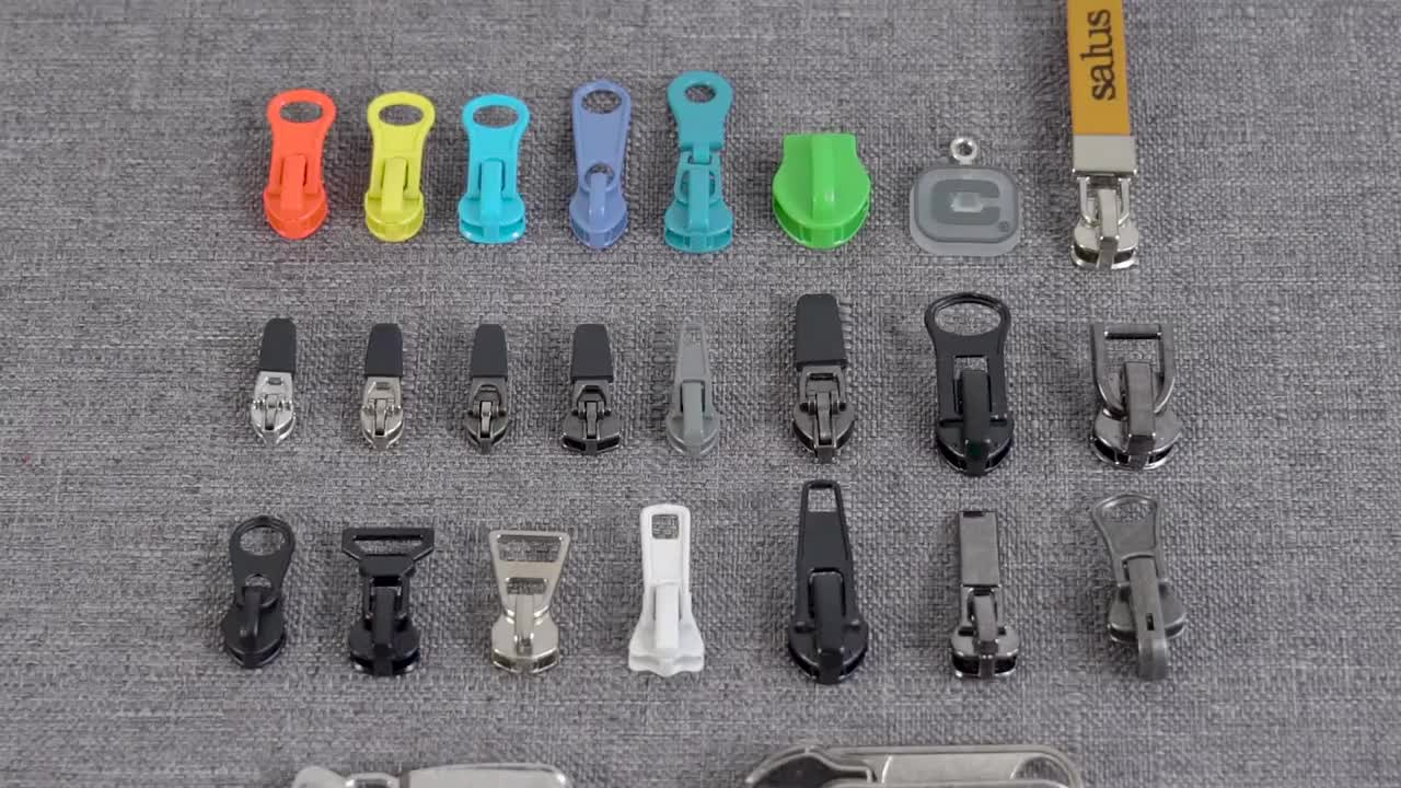 Supply factory price recyclable wire puller nylon zipper slider