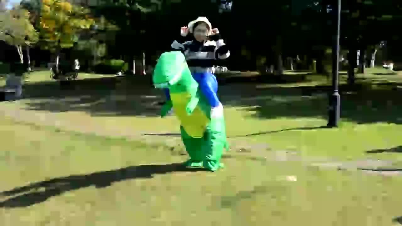 ترحيب مخصص هالوين ديناصور نفخ زي T-rex عيد الميلاد تأثيري فستان بتصميم حالم للكبار