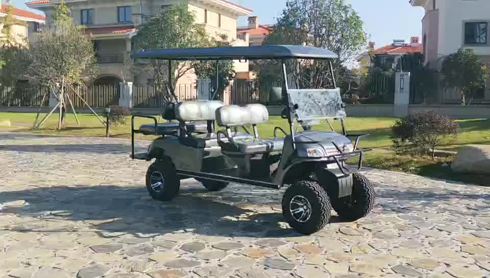 2019 angepasst tragbare jagd stil günstige 6 sitz elektrische golf warenkorb