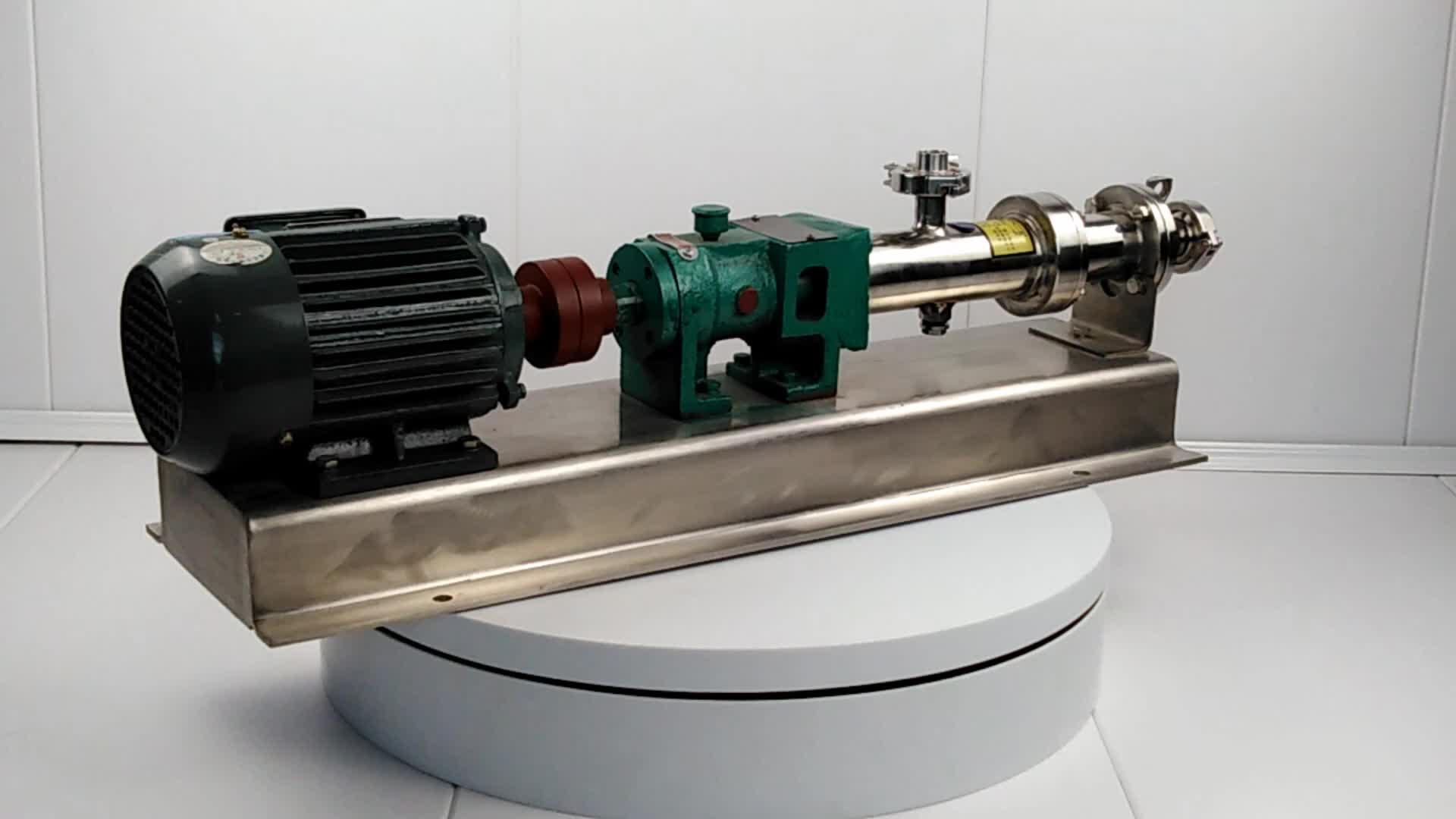 food grade screw pump stainless mini screw pump stator and rotor mono screw pump