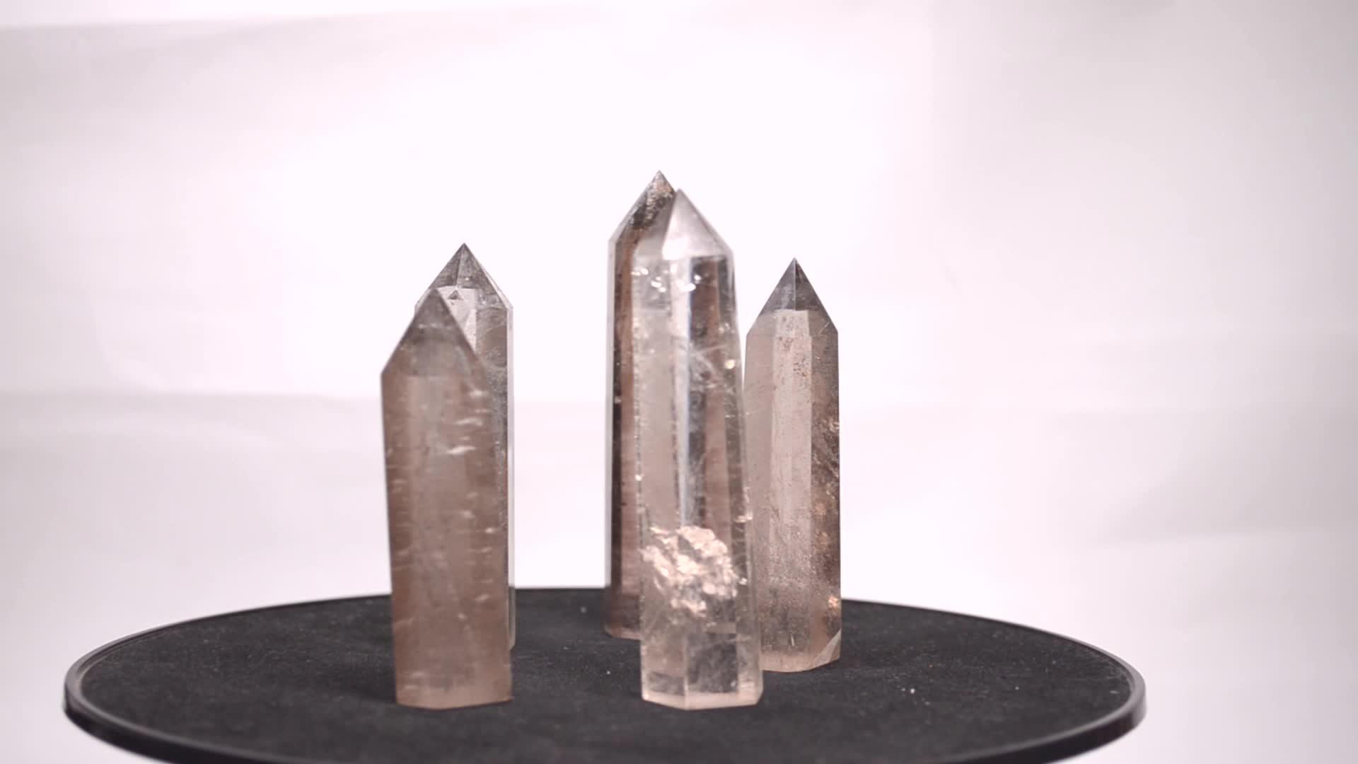 Perfetto Naturale di Guarigione Reiki Cristallo Smoky Quartz Bacchetta Punto di Torre