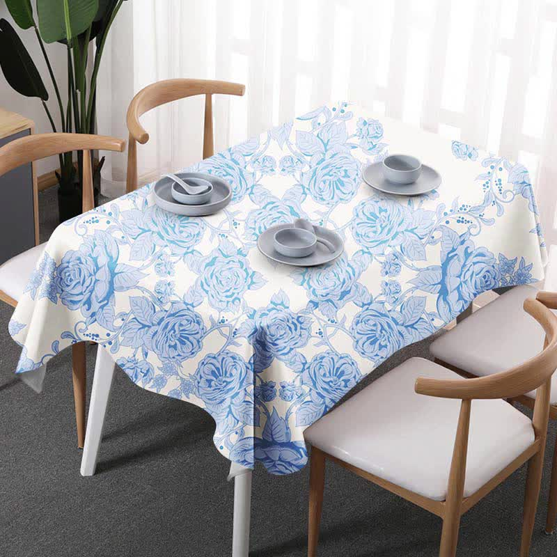 Vintage Style Cheap Table Cloth  Retro Ethnic Tablecloth Home/Hotel/Diner Table Cover Multifunction Printed Flax Covered Cloth