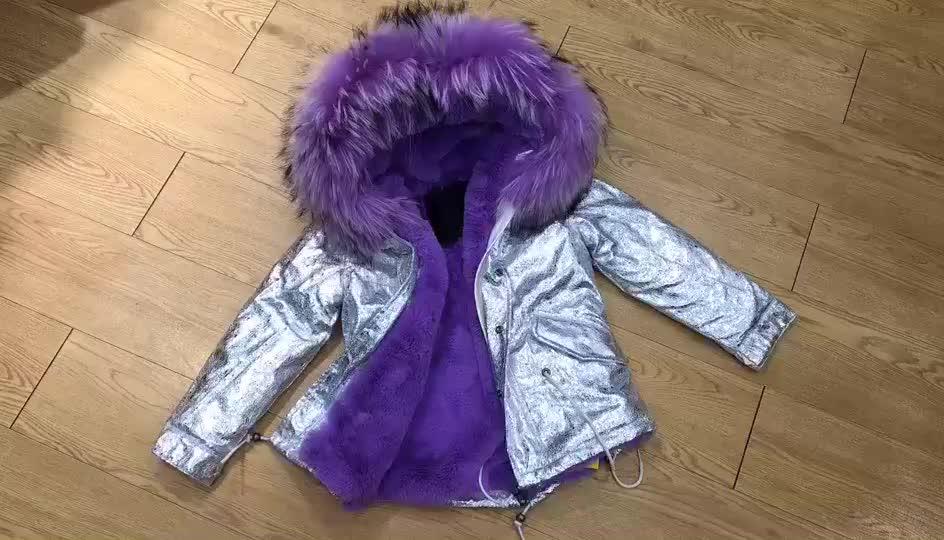 新しい冬韓国ファッションコート子供のためのセレブファッション子ボンバージャケット