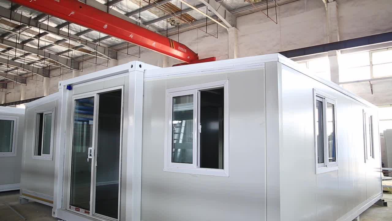 Fabrika 20ft 30ft katlanır 3 in 1 genişletilebilir konteyner ev