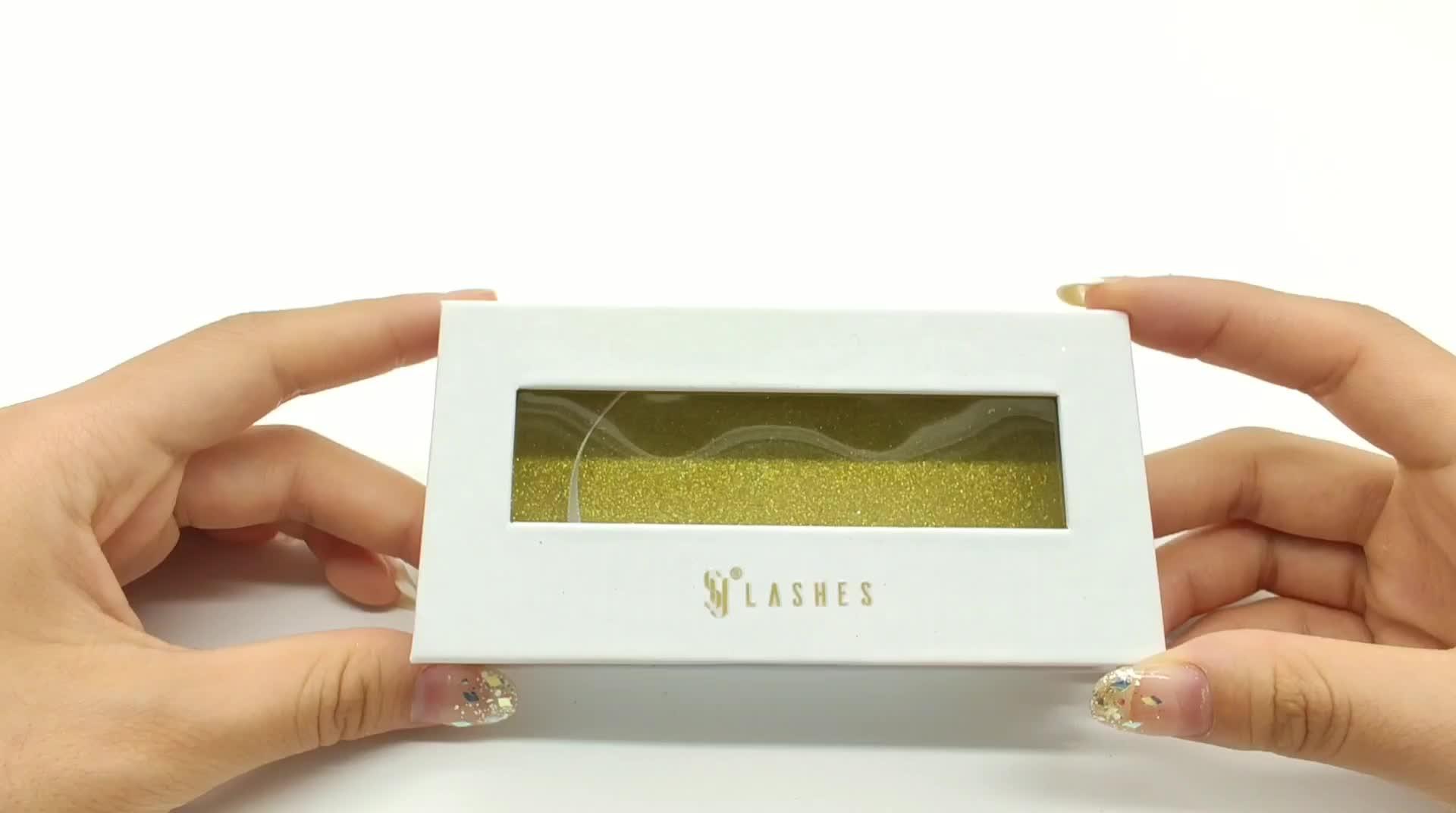 Shuying SY empty custom logo paper lash box square eyelash packaging eyelash boxes with window